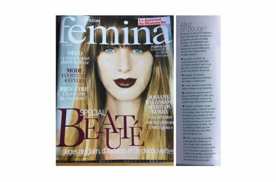 Article d'octobre 2017 dans Femina