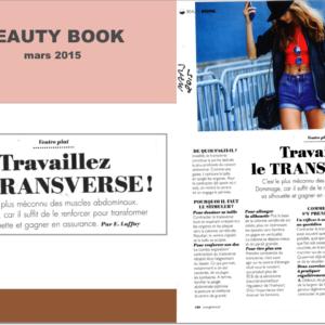 article de mars 2015 de beauty book - trvaillez le transverse !