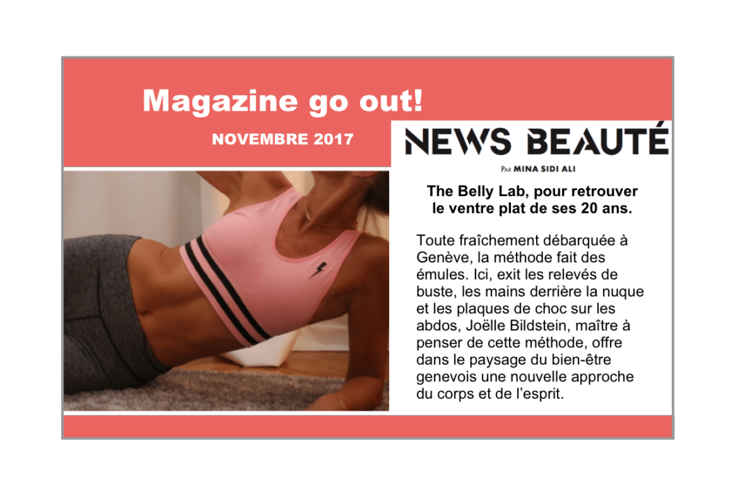 Go out Magazine - novembre 2017